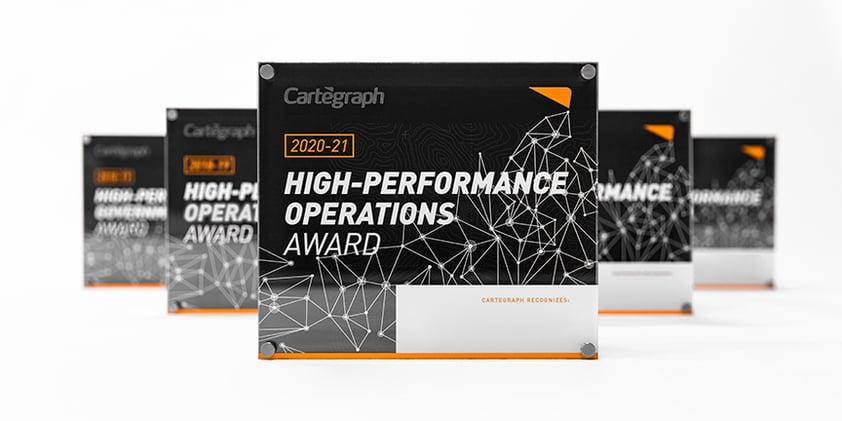 Cartegraph High-Performance Operations Award and Flag Forward Award Winners