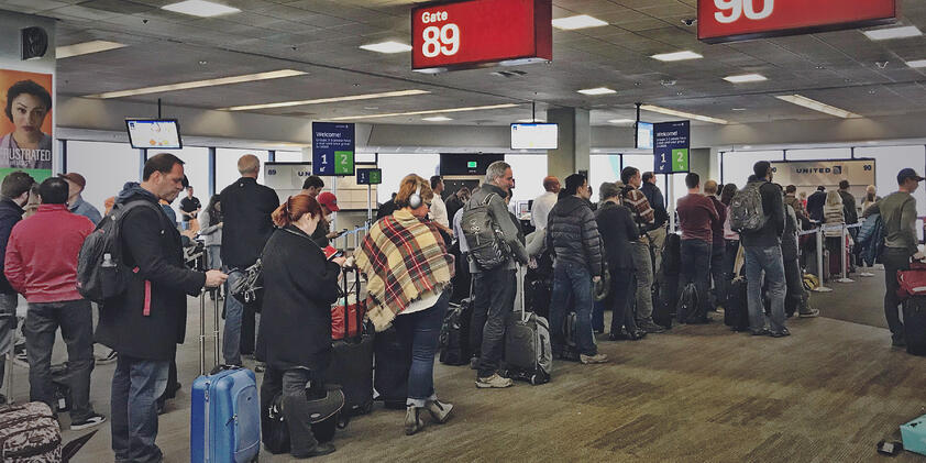 Standing in Line at the Airport