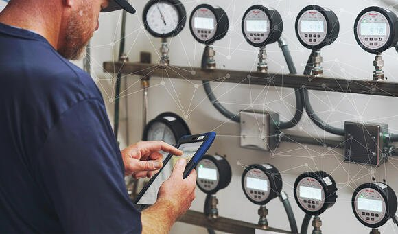 Water operator performing a daily inspection