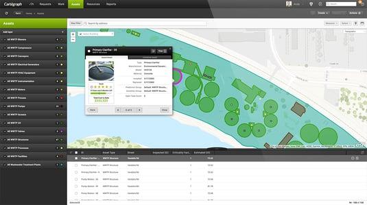 Wastewater treatment plant software screenshot