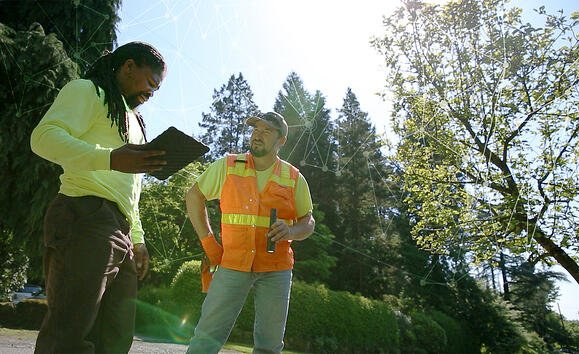 Multnomah County, OR field crew inspecting a culvert using the Cartegraph iPad app