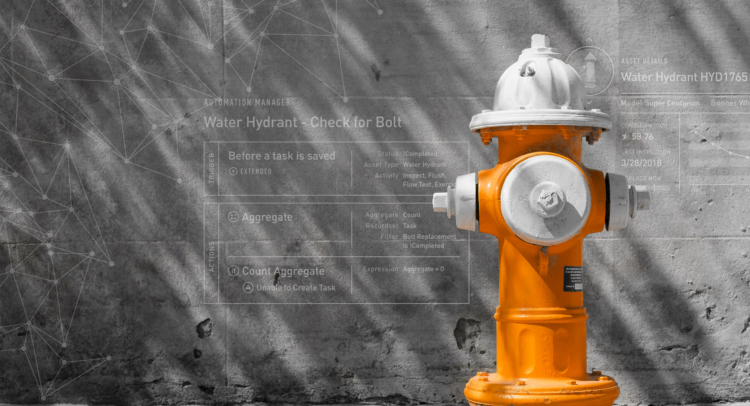 Hydrant with asset and automation UI