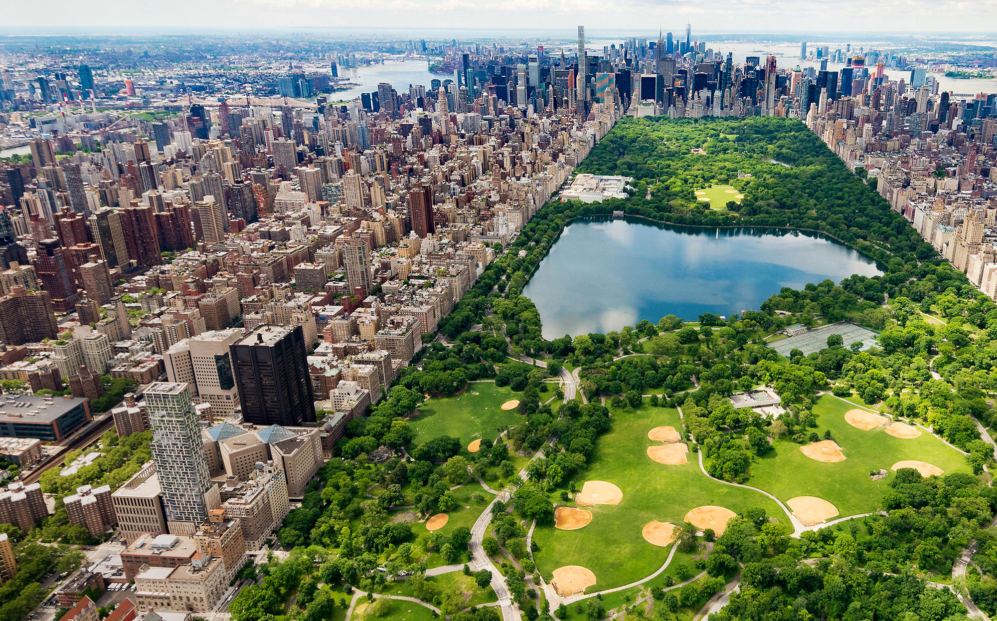 Central Park, New York aerial photo