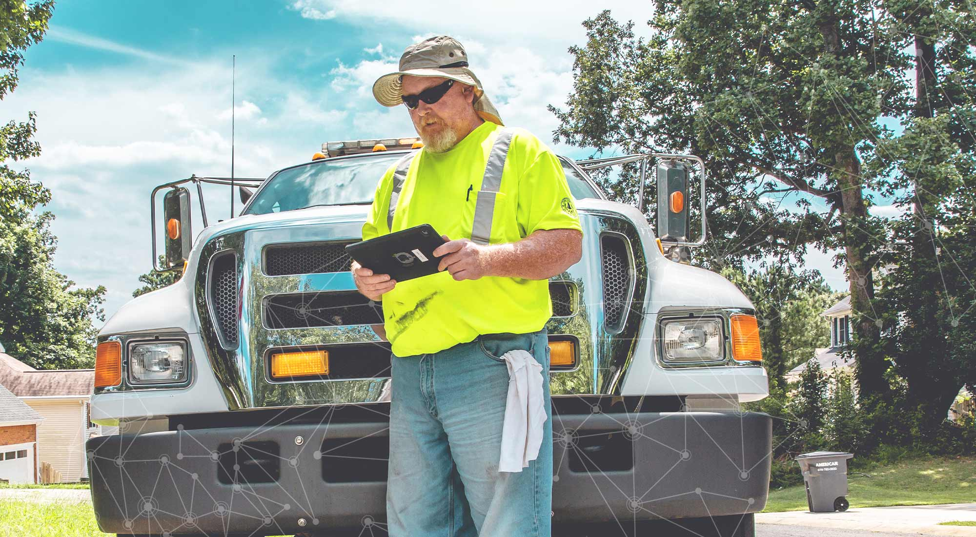 Cobb County, GA field professional logging work in Cartegraph One for iPad