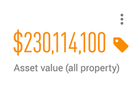 $230,114,100 asset value (all property)