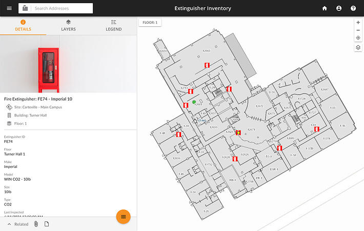 Fire extinguisher inventory software