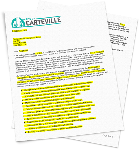 CARES Act justification letter template
